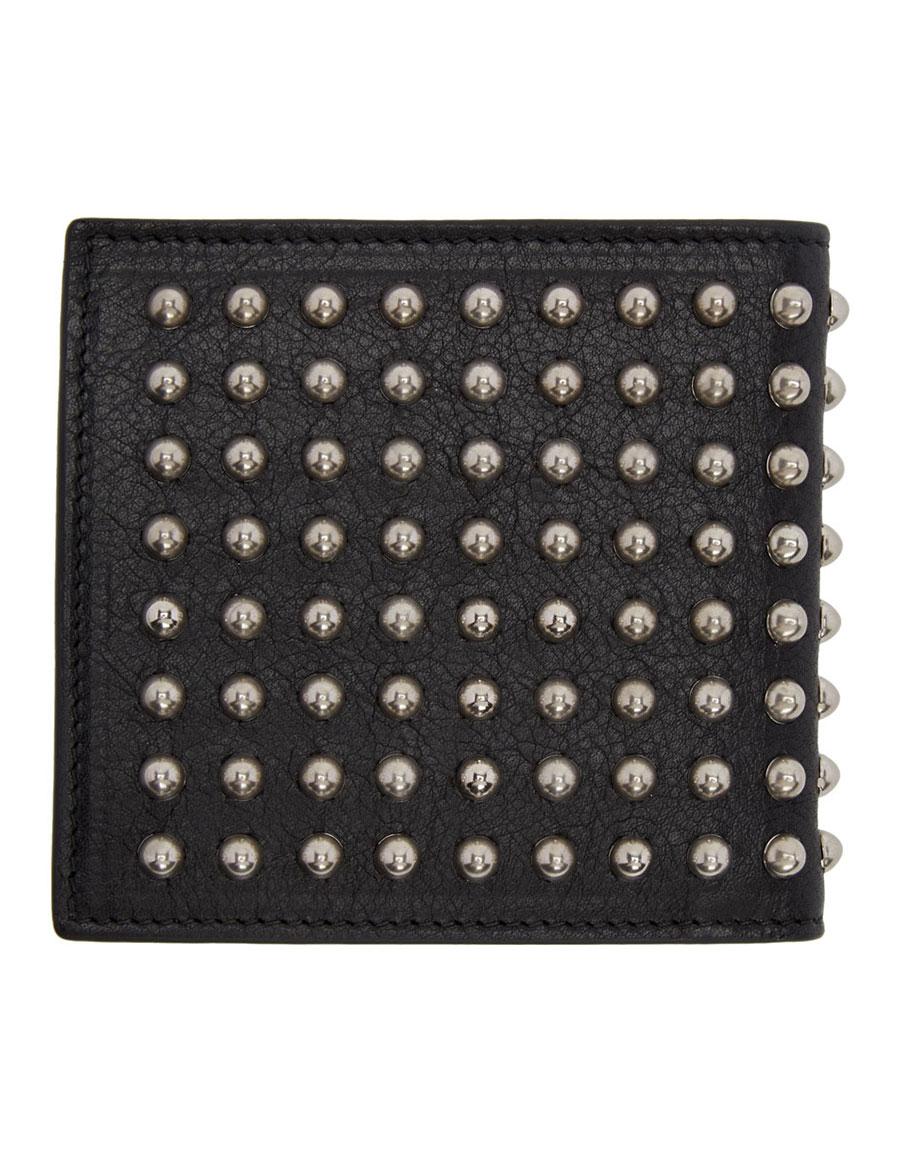ALEXANDER MCQUEEN Black Studded Bifold Wallet
