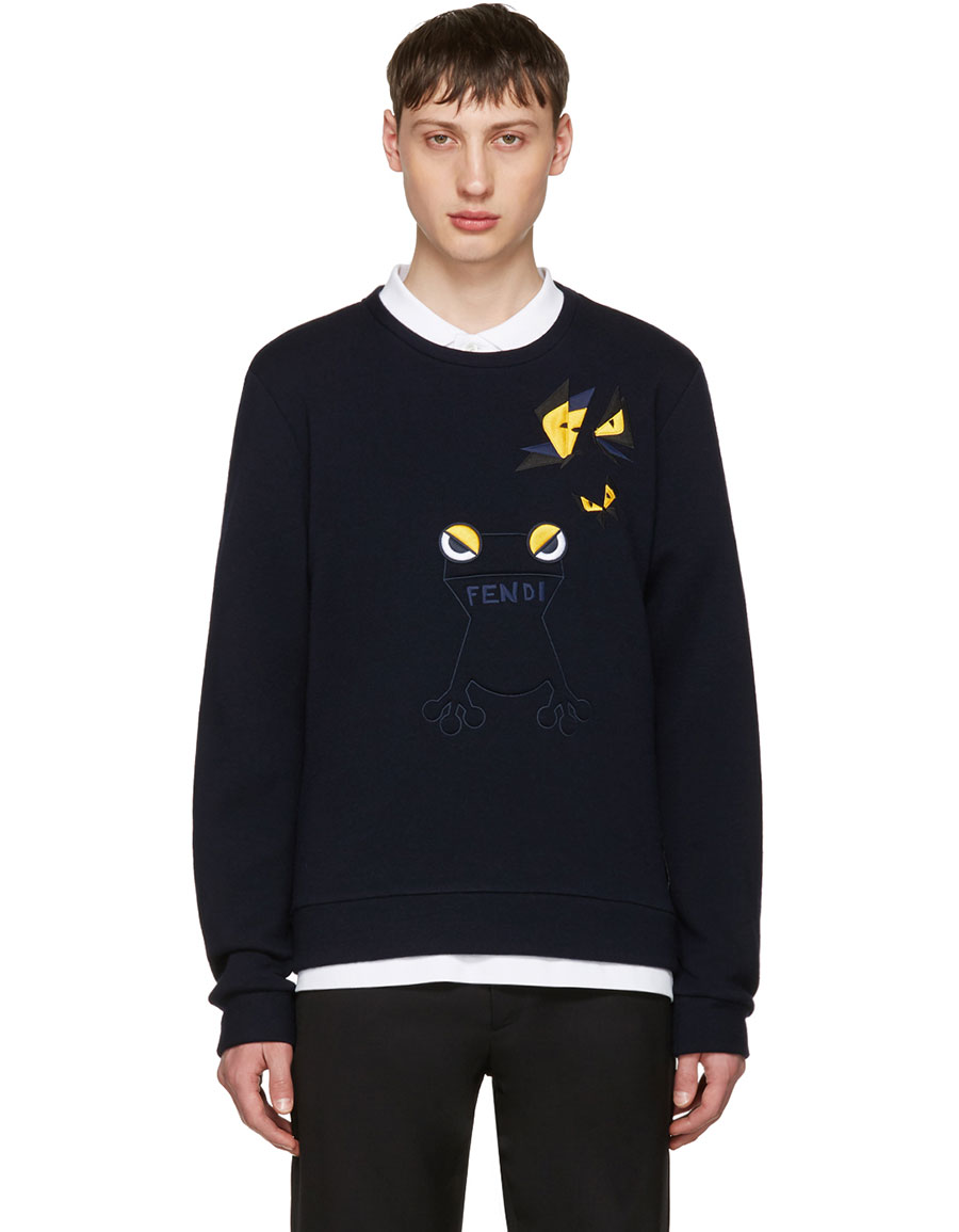 FENDI Navy Butterfleyes & Frogs Sweatshirt