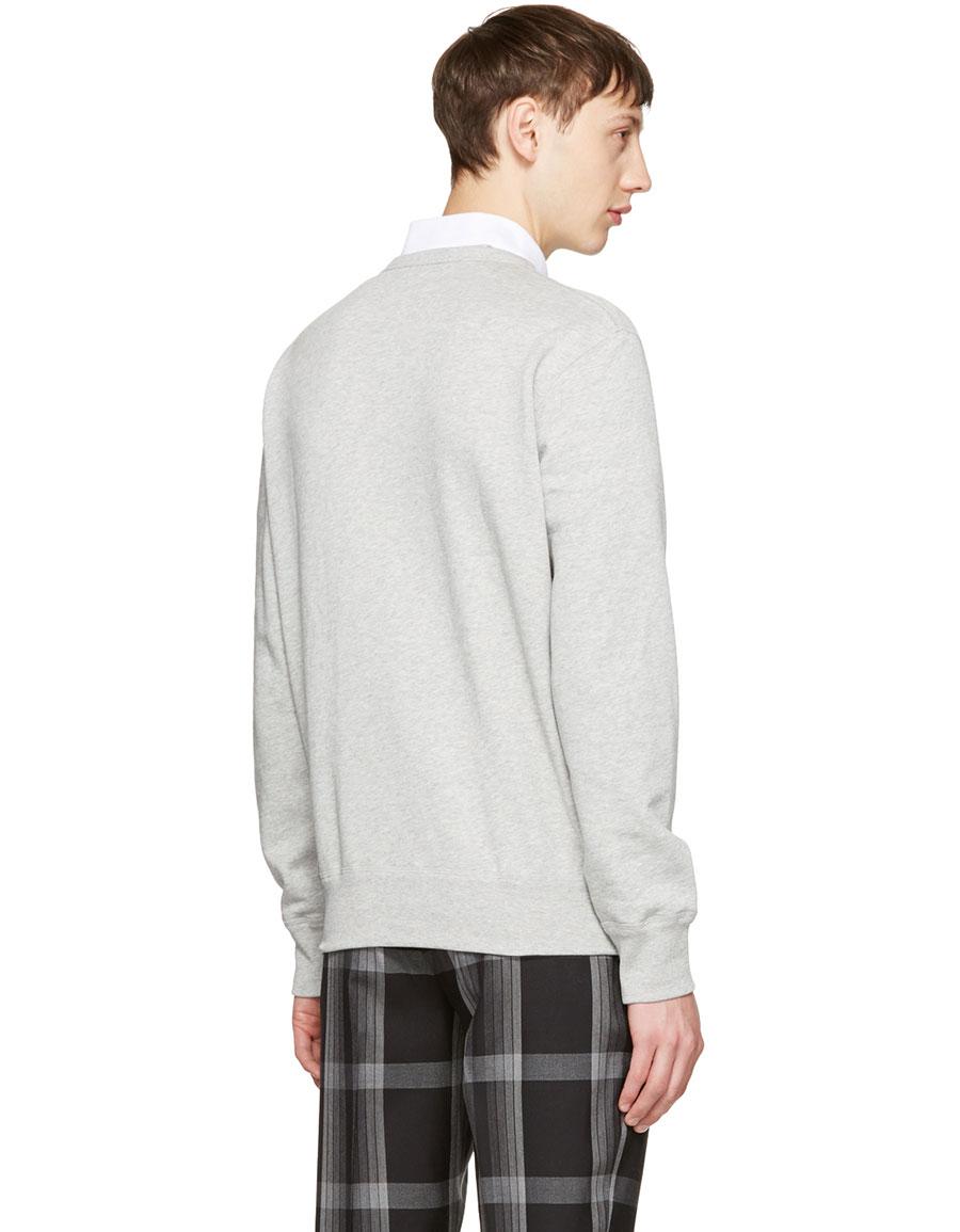 ALEXANDER MCQUEEN Grey Thistle Sweatshirt