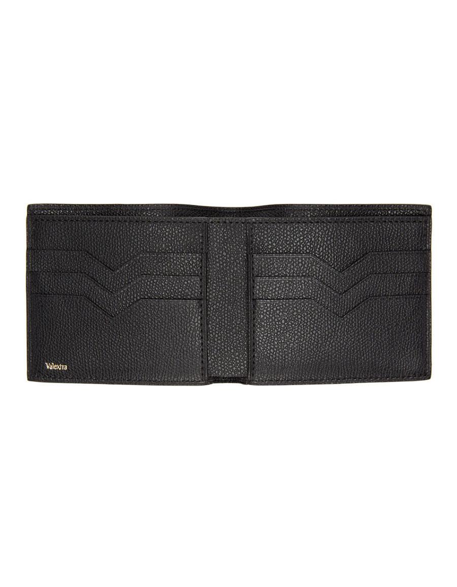 VALEXTRA Black 6CC Bifold Wallet