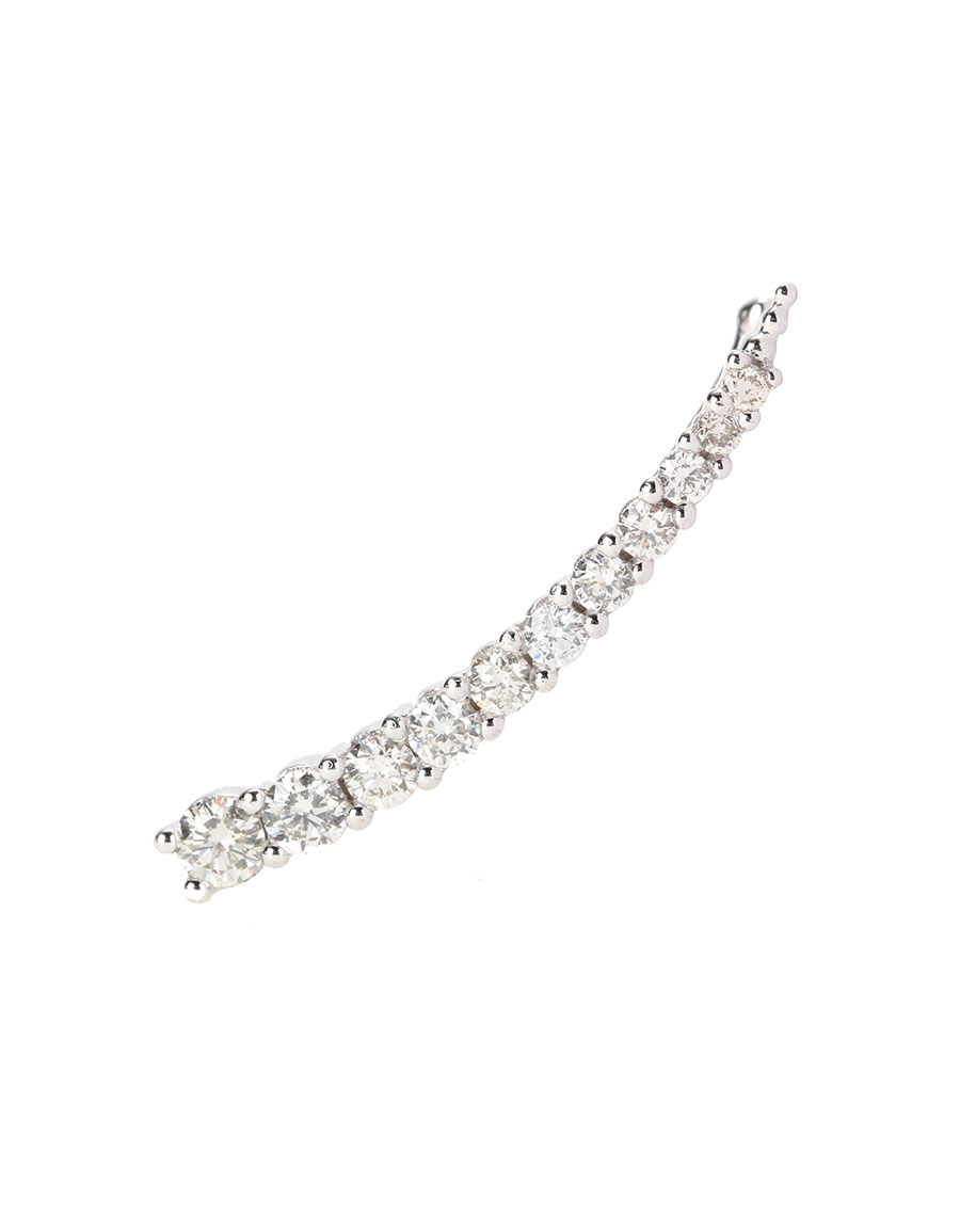SYDNEY EVAN Prong 14kt white gold earring with white diamonds