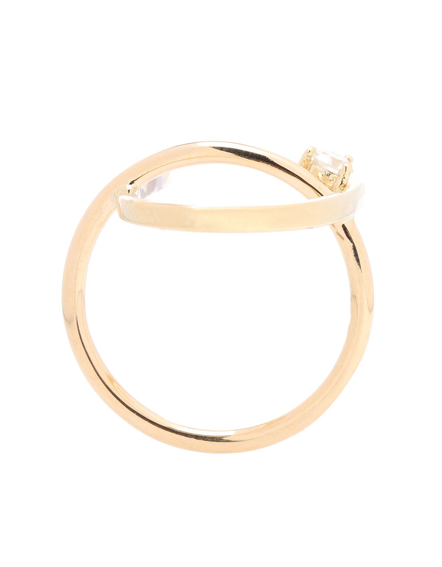 WASSON FINE Arch Orbit 14kt gold and diamond ring