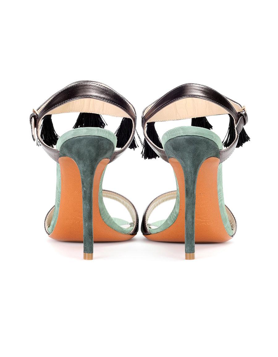 ETRO Embellished suede sandals