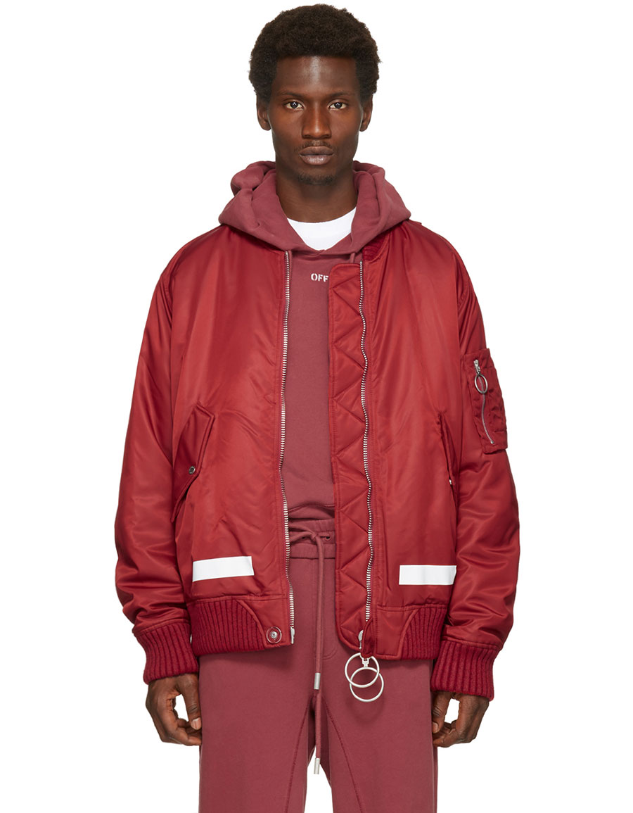 OFF WHITE Red Arrows Bomber Jacket