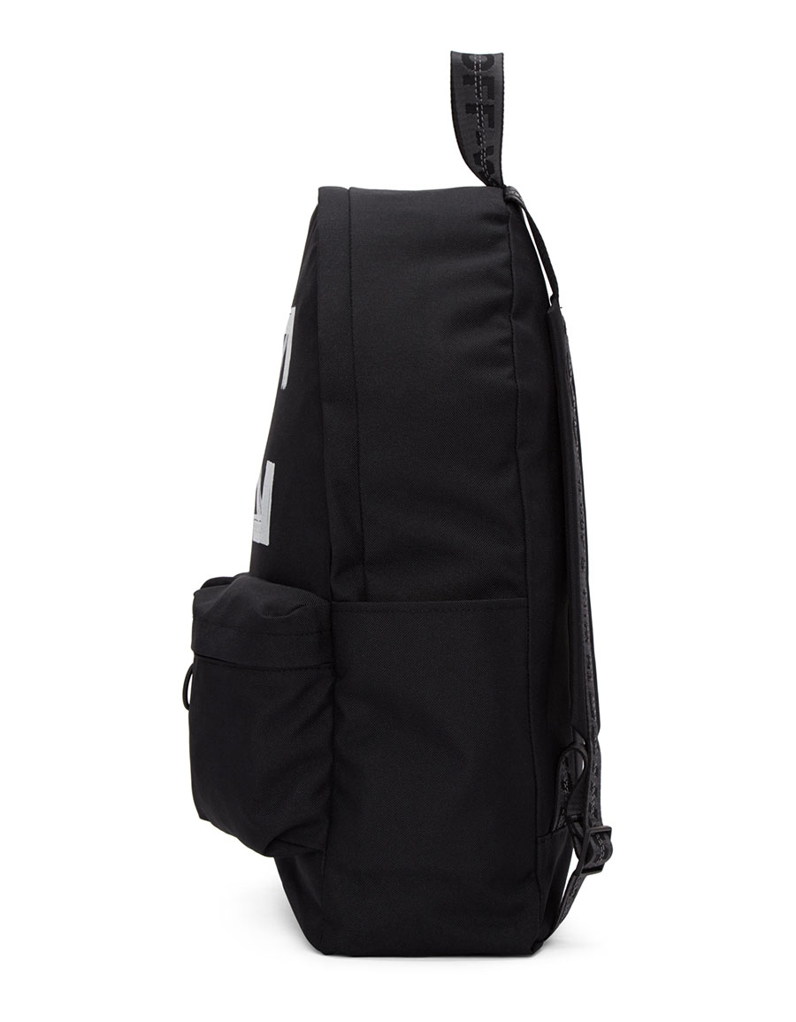 OFF WHITE Black Brushed Backpack