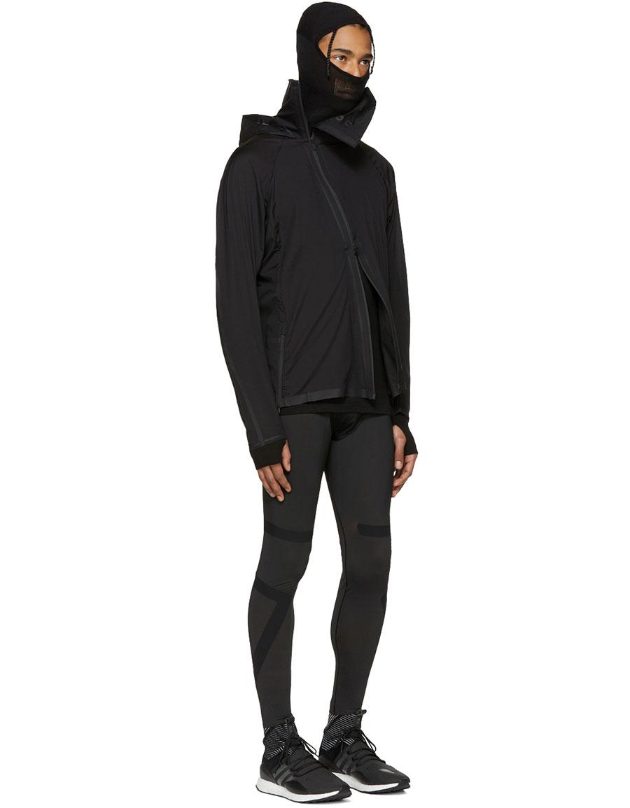 Y 3 Black Tech Knit Hoodie
