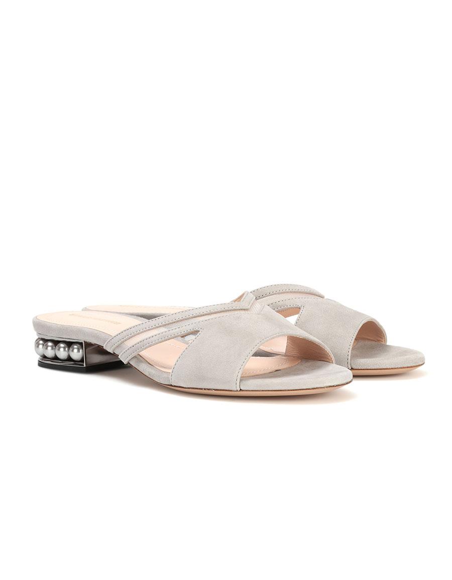 NICHOLAS KIRKWOOD Casati Mule suede slip on sandals