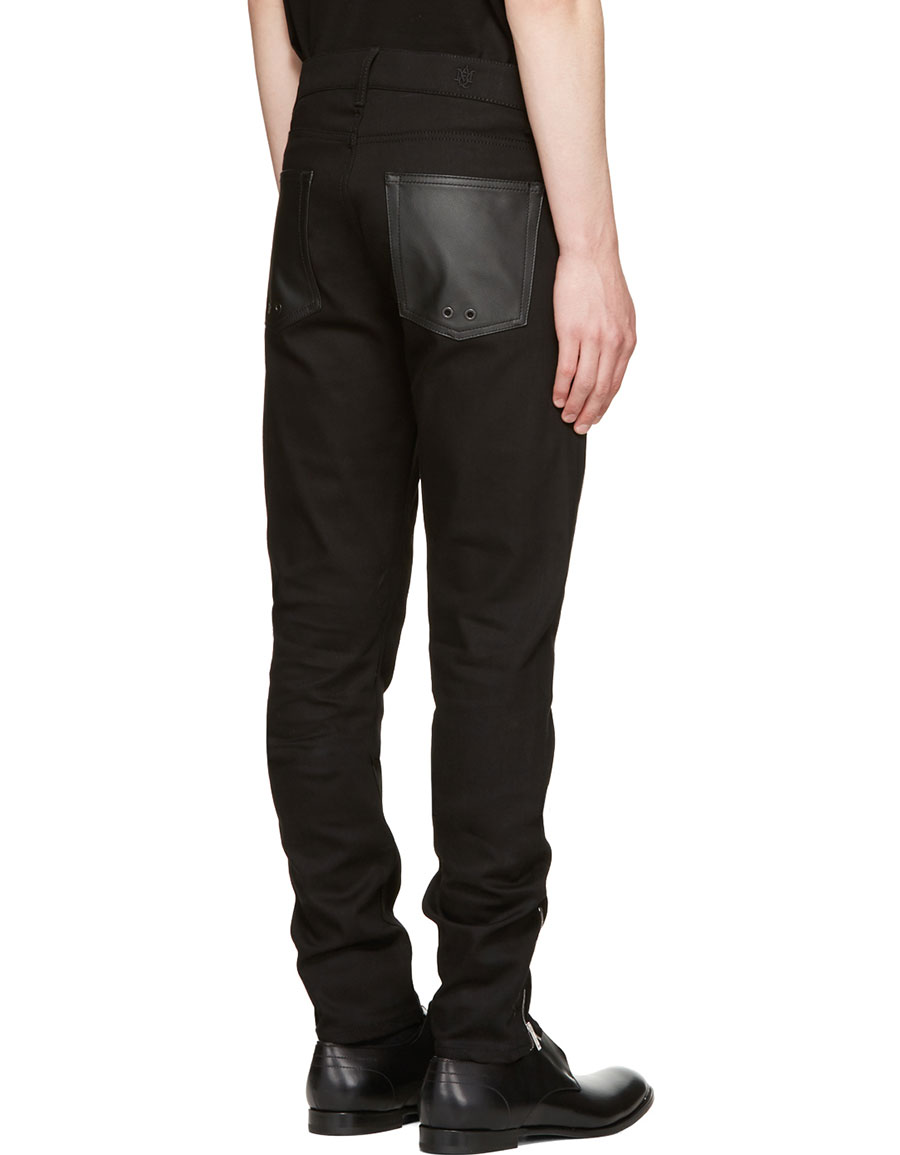 ALEXANDER MCQUEEN Black Biker Jeans