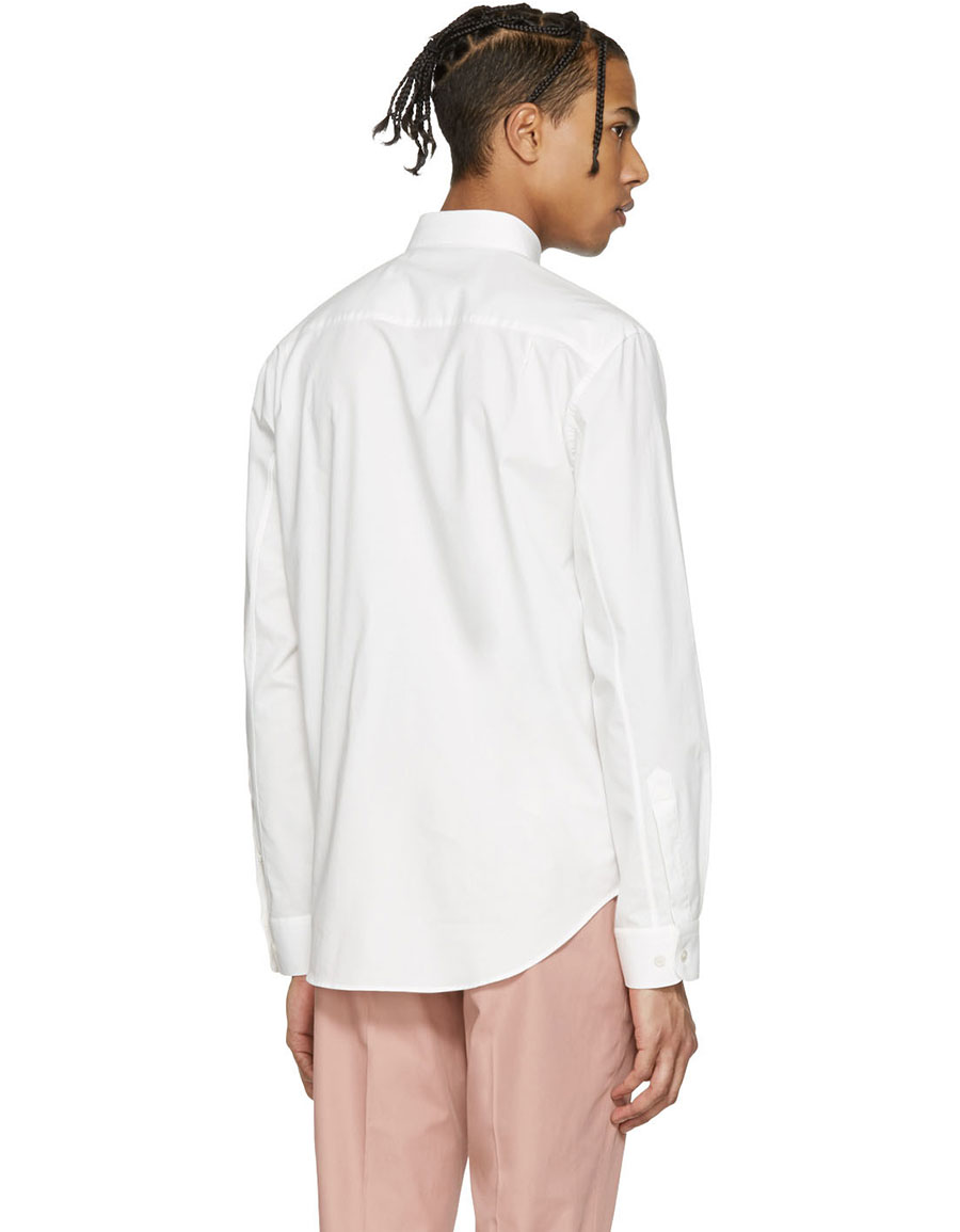 STELLA MCCARTNEY White Embroidered Bird Shirt