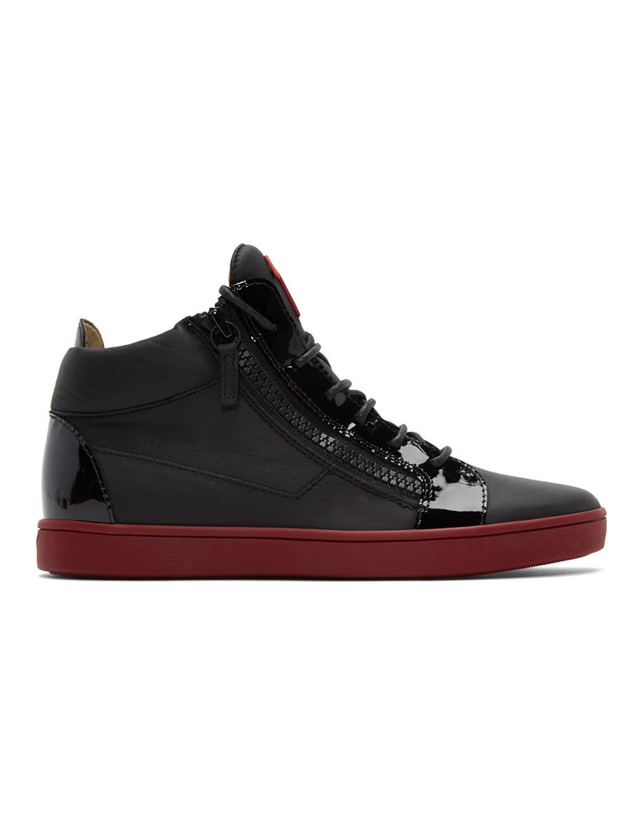 GIUSEPPE ZANOTTI Black Brek High Top Sneakers