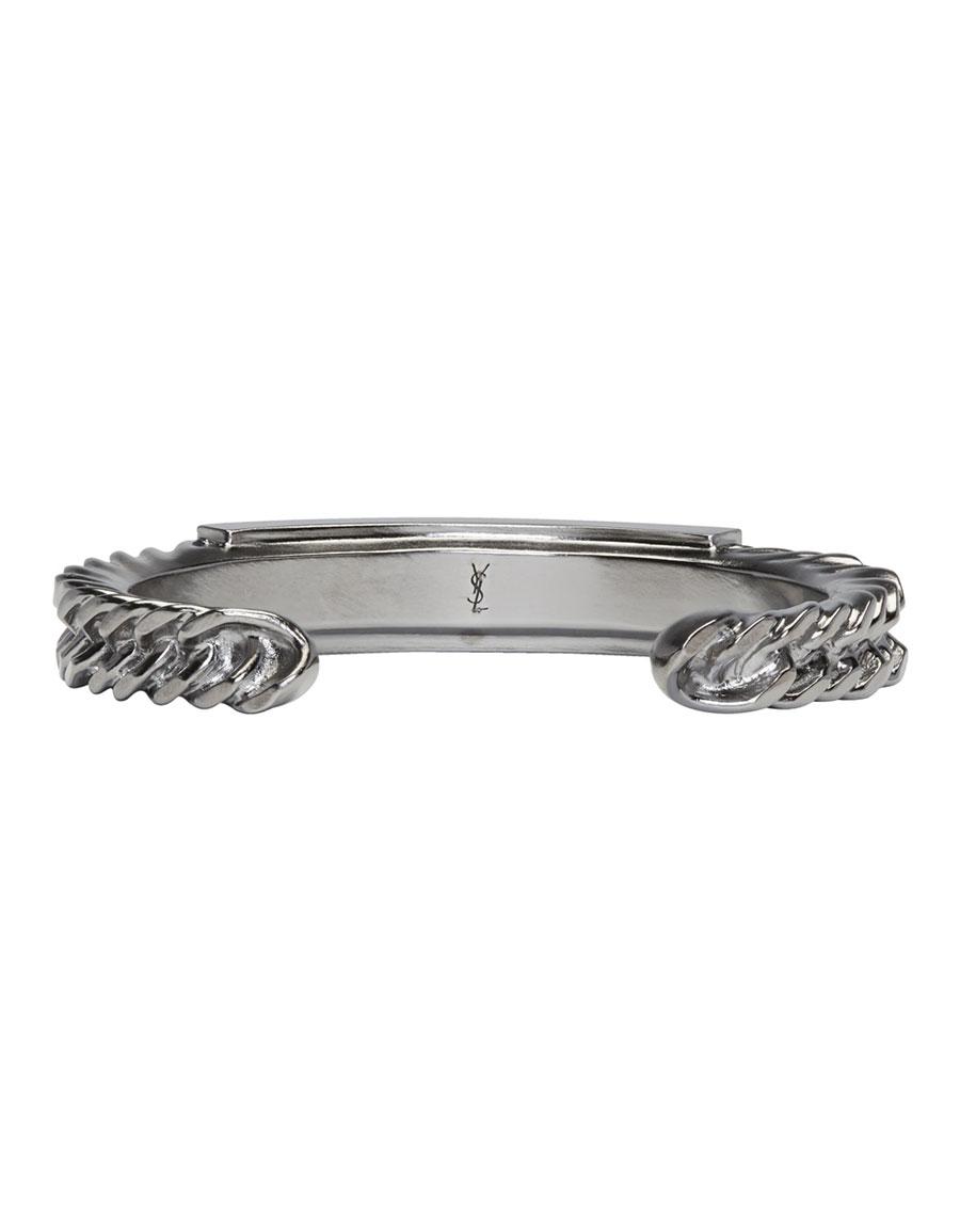 SAINT LAURENT Silver Double Bracelet Set