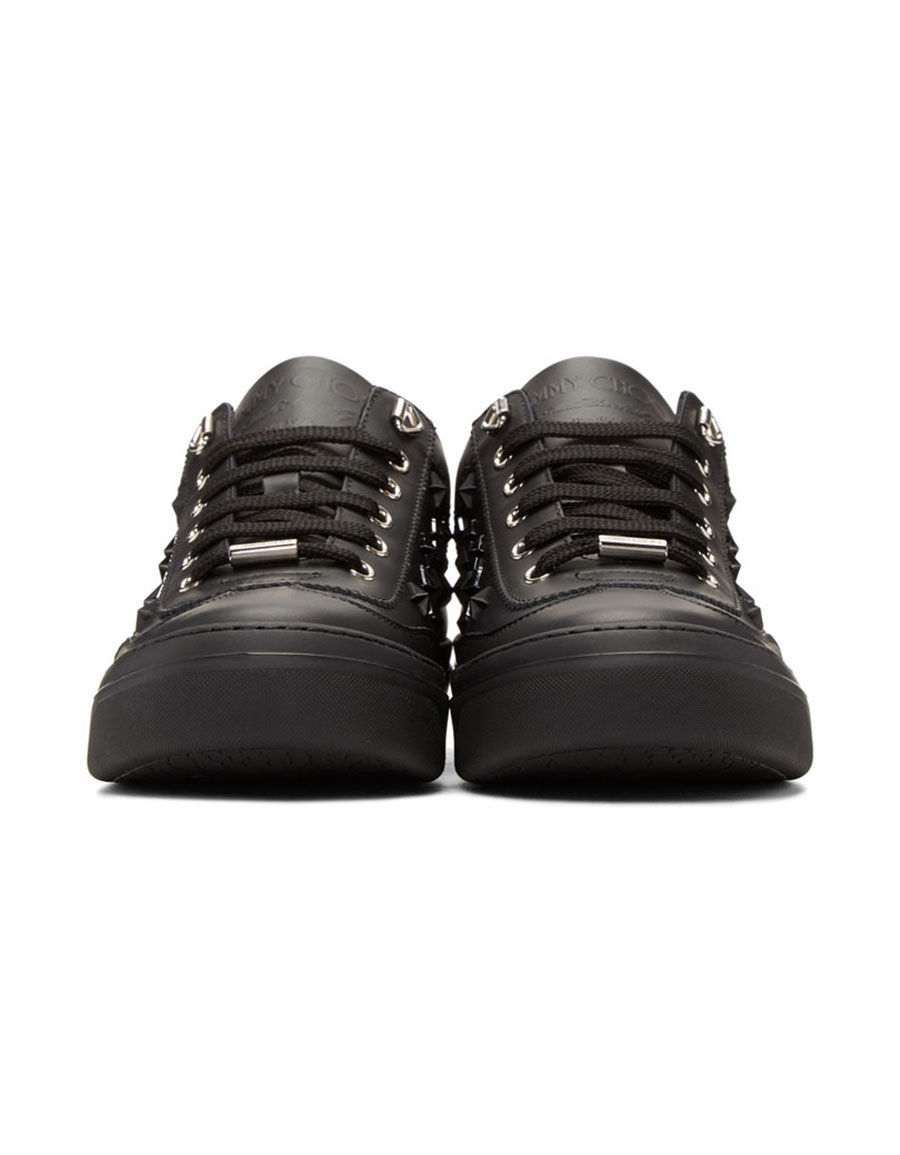 JIMMY CHOO Black Stars Ace Sneakers