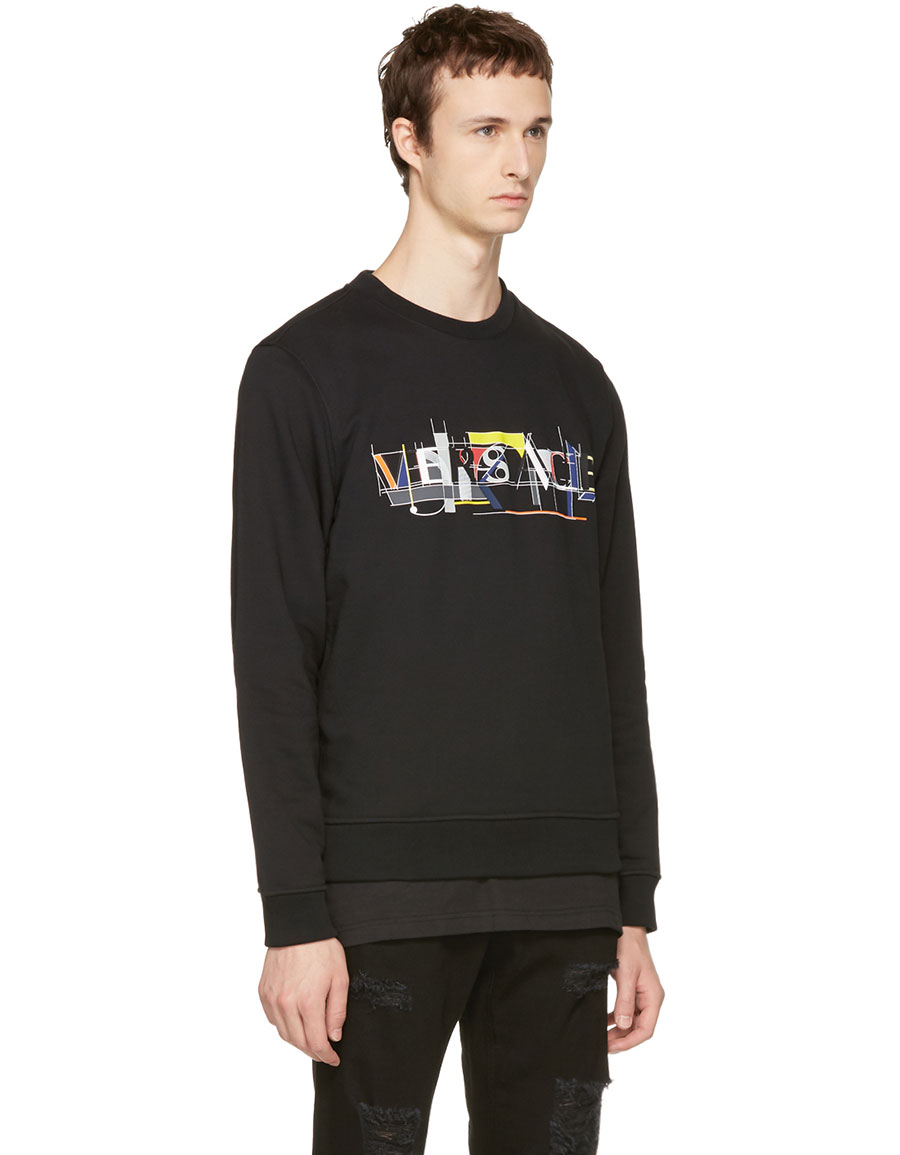 VERSACE Black Logo Sweater