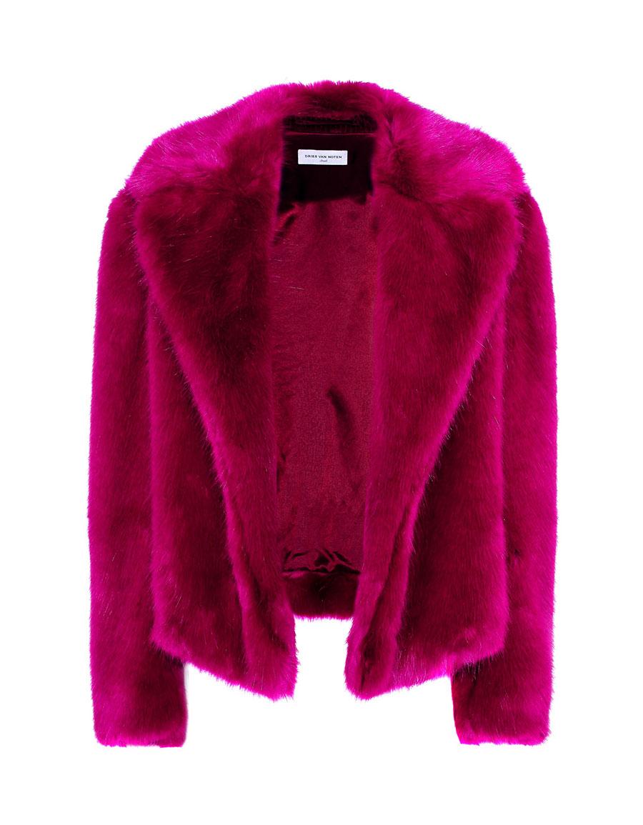 DRIES VAN NOTEN Faux fur coat