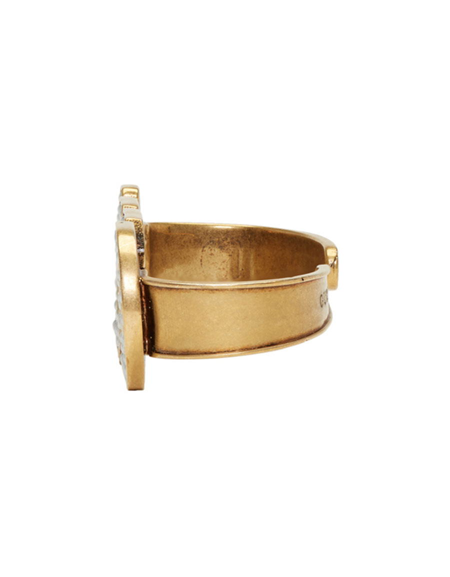 GUCCI Gold Pearl 'Loved' Palm Cuff