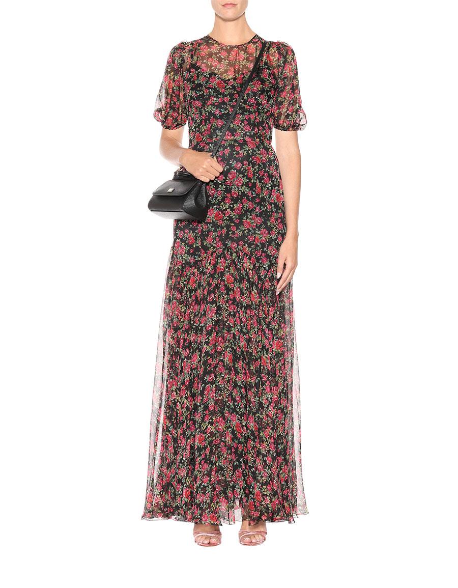 DOLCE & GABBANA Floral printed silk dress