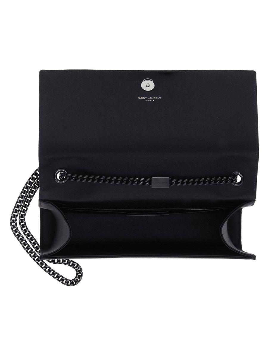 SAINT LAURENT Classic Medium Kate sequinned satin shoulder bag
