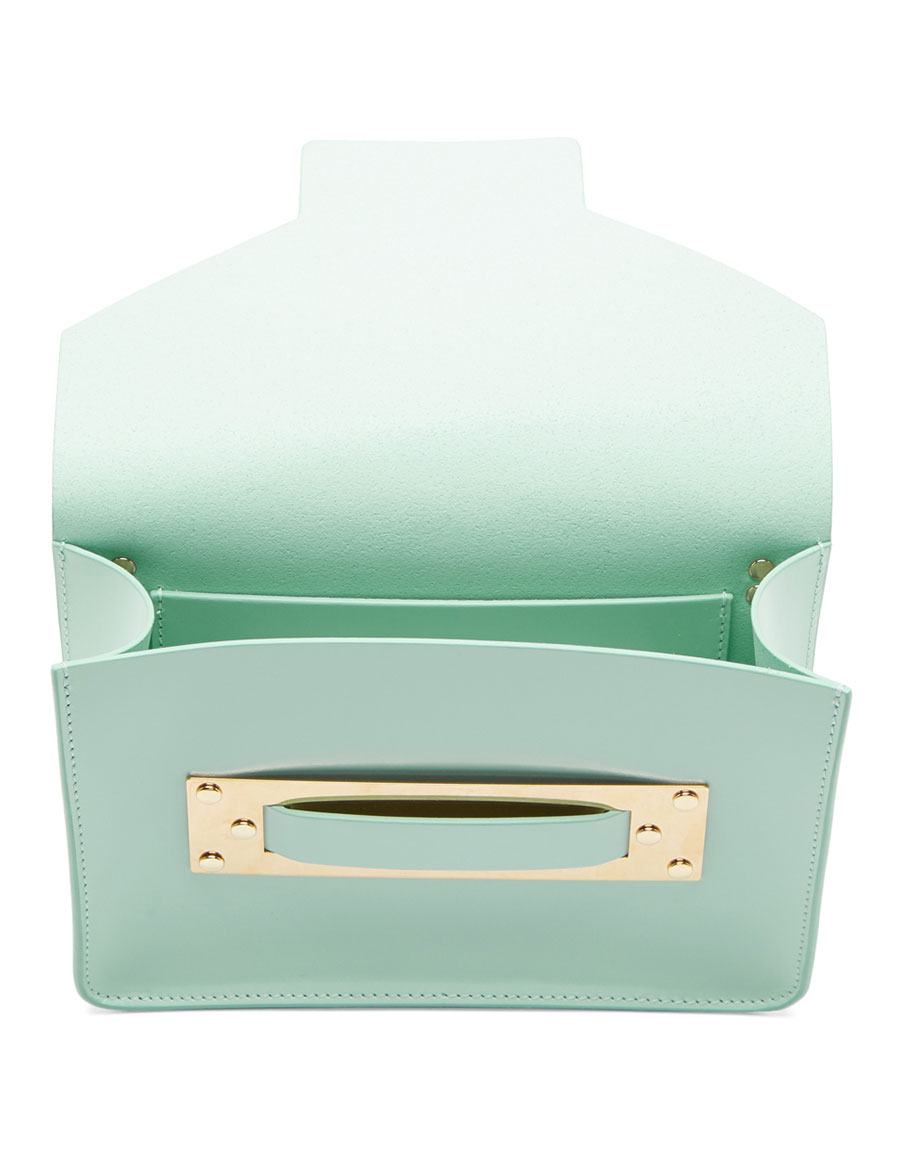 SOPHIE HULME SSENSE Exclusive Blue Mini Milner Crossbody Bag
