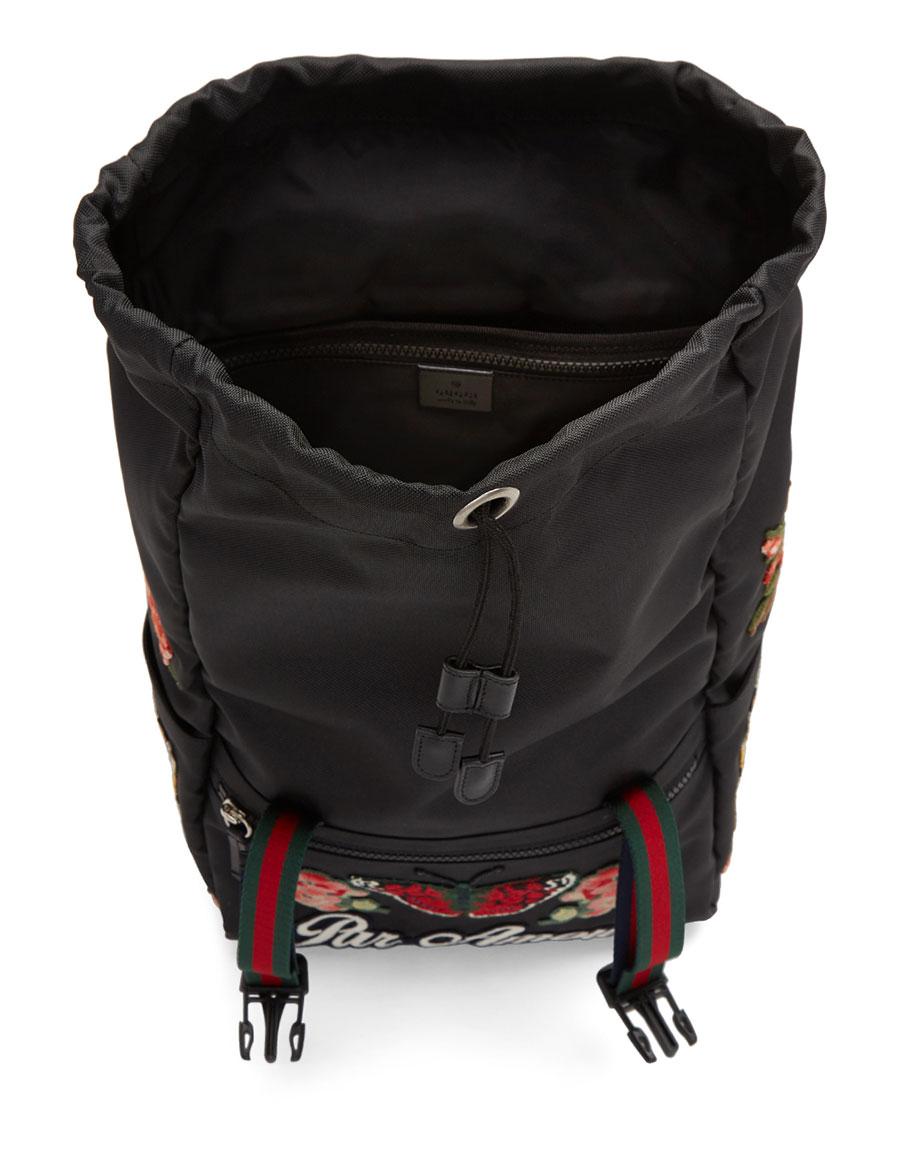 GUCCI Black 'L'Aveugle Par Amour' Techpack Backpack