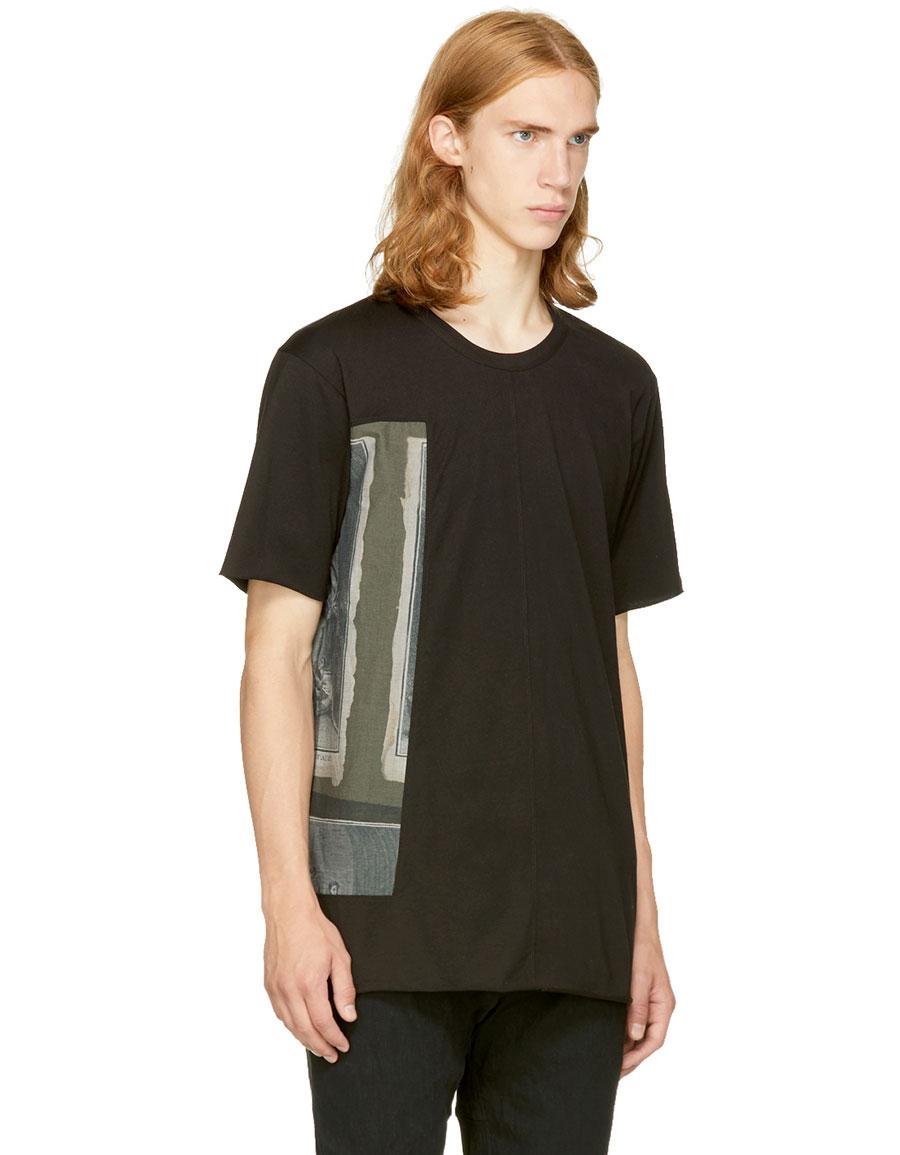 ZIGGY CHEN Black Graphic T Shirt