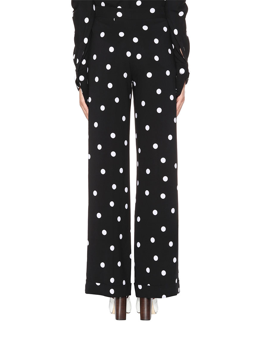 MONSE Dotted silk blend trousers