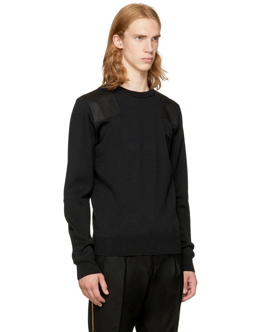 SAINT LAURENT Black 'Bad Lieutenant' Sweater