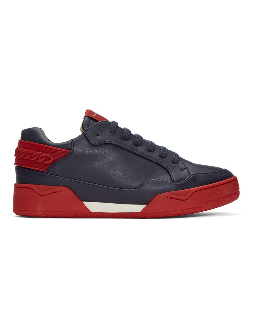 STELLA MCCARTNEY Navy Cord Sneakers