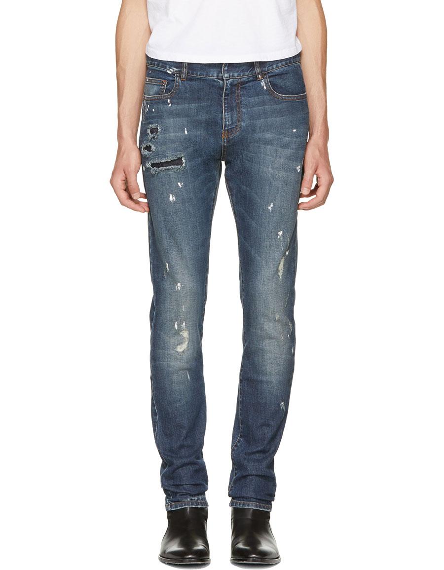 FAITH CONNEXION Indigo Destroyed Slim Jeans