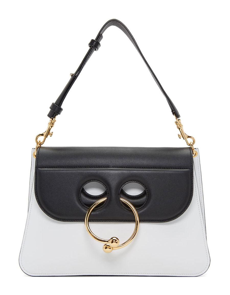 J.W. ANDERSON White & Black Medium Pierce Bag