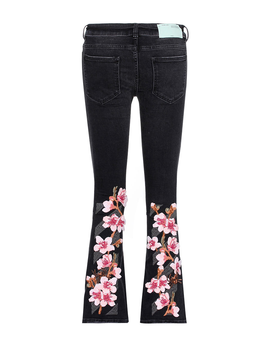 OFF WHITE Diag Cherry flared jeans