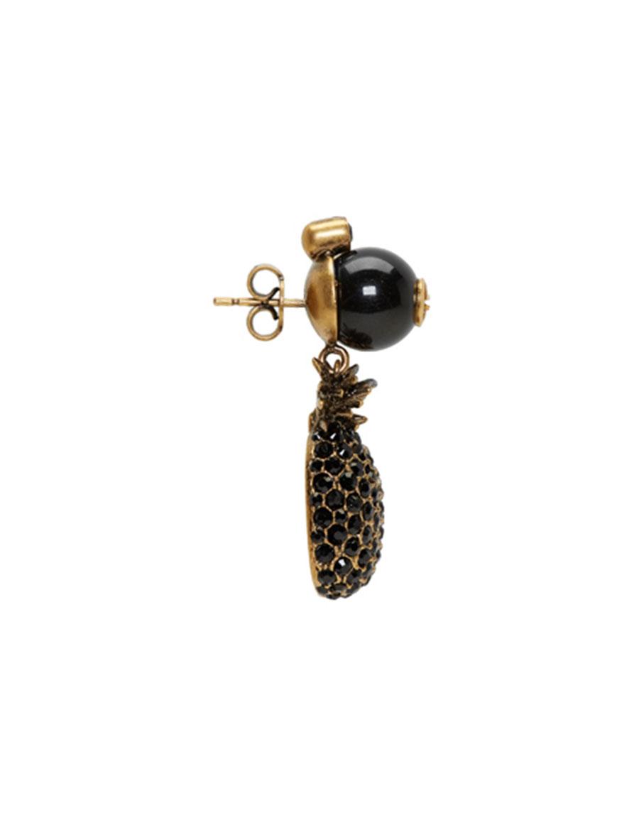 GUCCI Gold & Black Pineapple Pearl Earrings