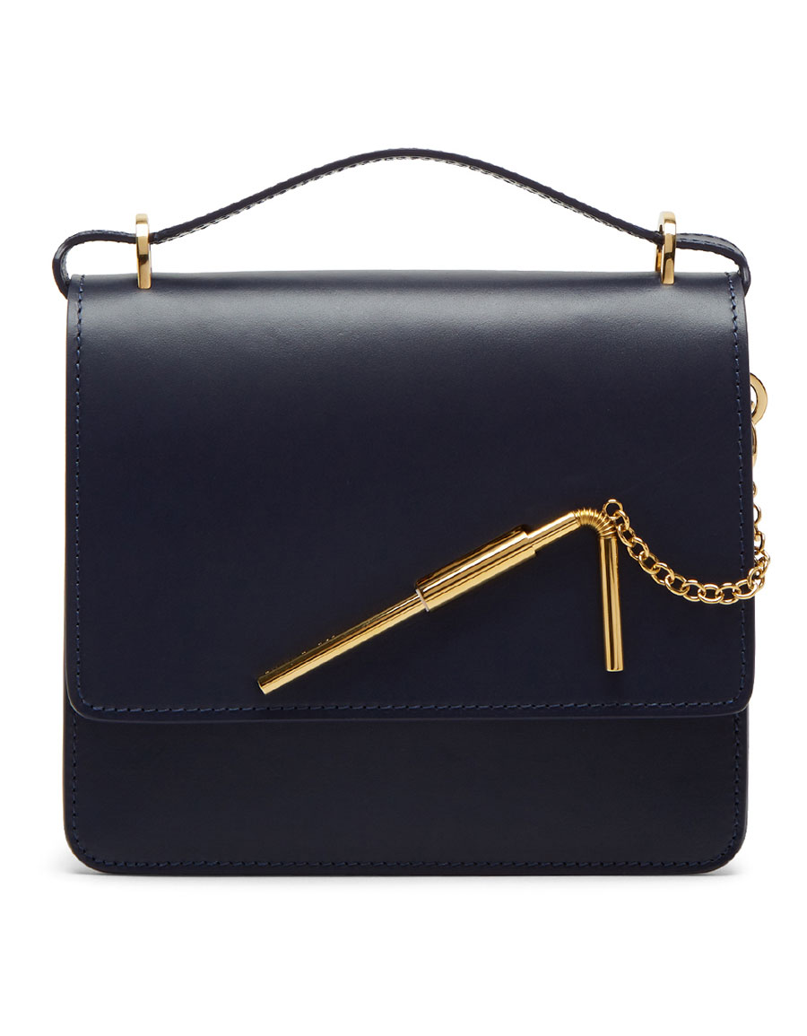 SOPHIE HULME Navy Medium Straw Cocktail Stirrer Bag