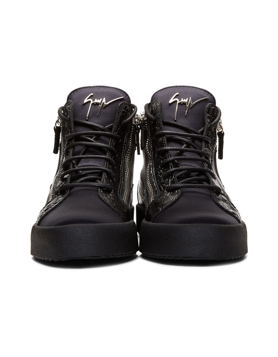 GIUSEPPE ZANOTTI Black & Navy May London High Top Sneakers