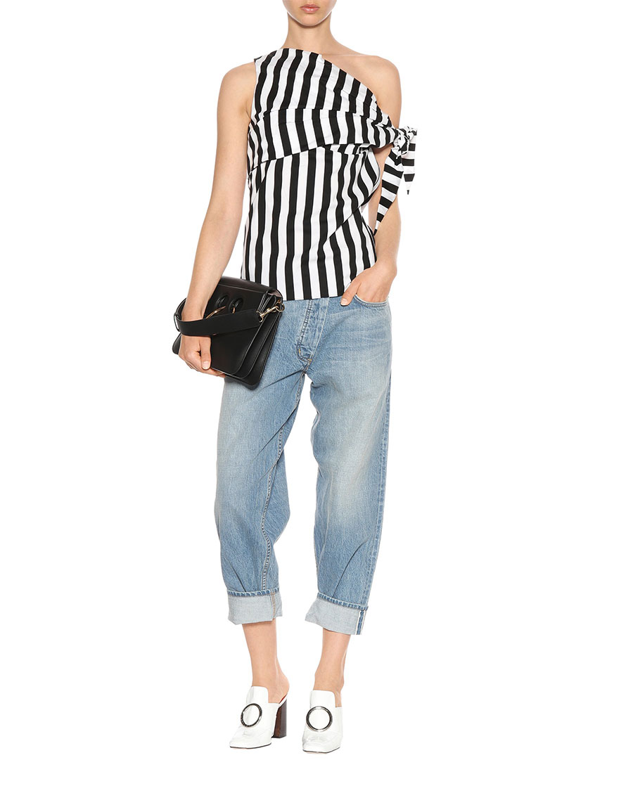 MONSE Striped stretch cotton top