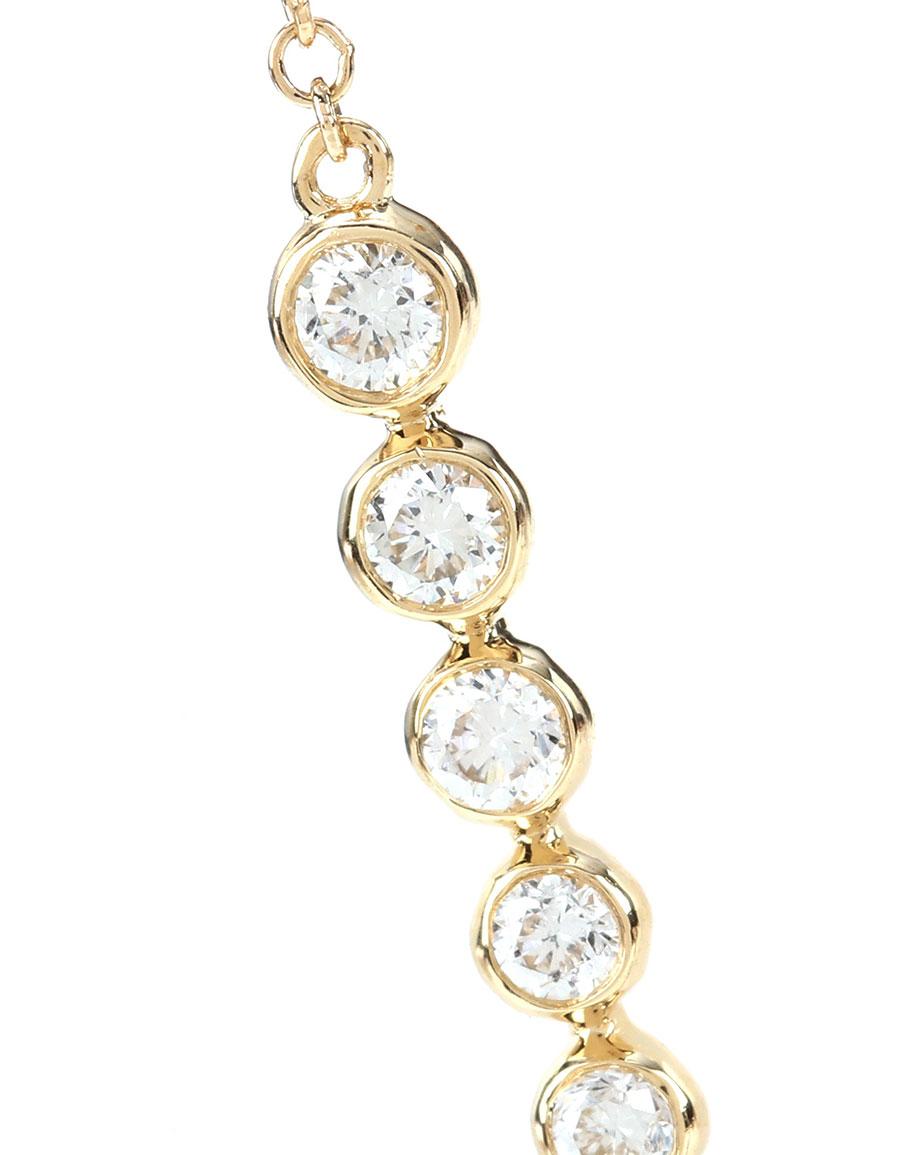 SYDNEY EVAN Graduated Bezel Thread 14kt gold and diamond earrings