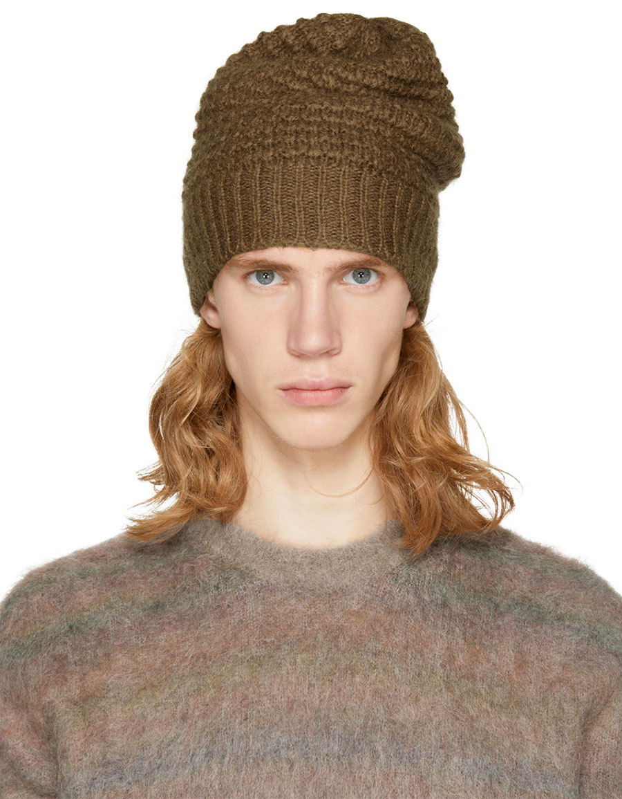 STELLA MCCARTNEY Brown Knit Beanie
