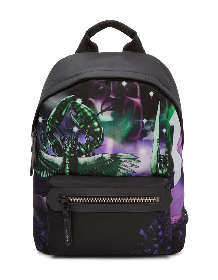 LANVIN Black Lobster Dune Backpack