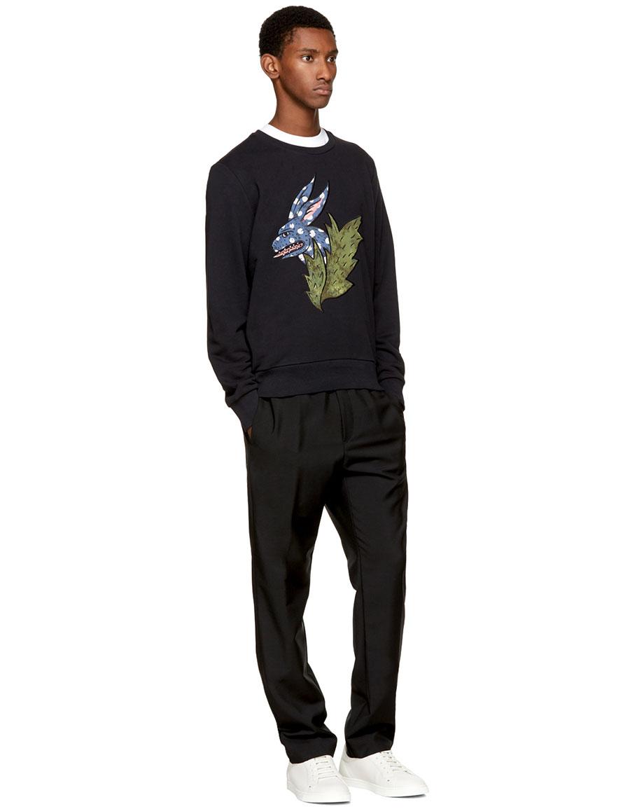 BURBERRY Black Rabbit Canton Sweatshirt