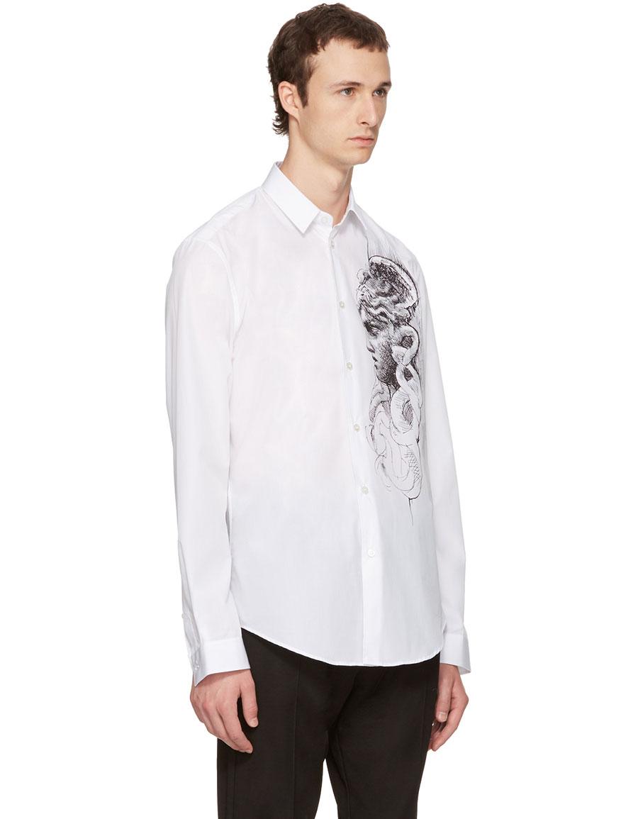 VERSACE White Medusa Sketch Shirt