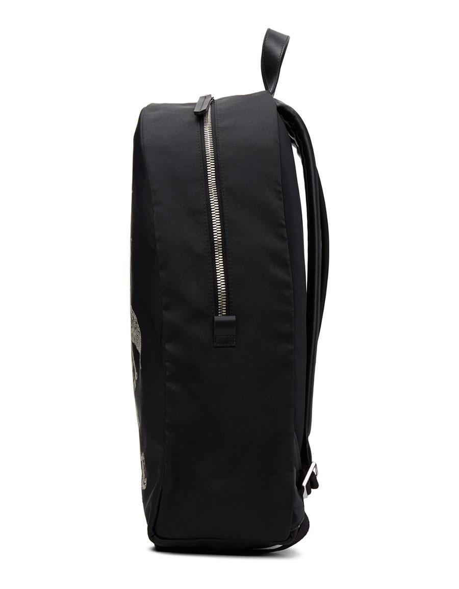 ALEXANDER MCQUEEN Black 'Coat of Arms' Backpack