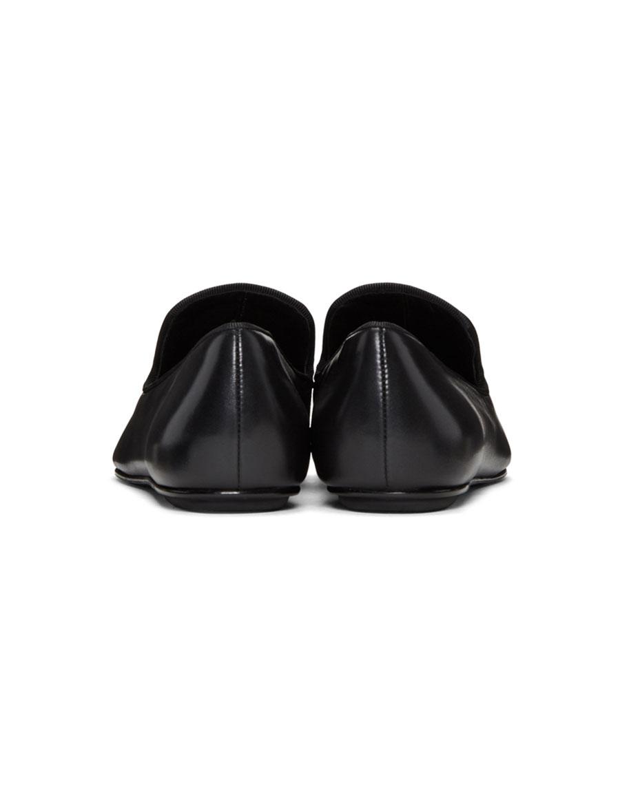 ALEXANDER WANG Black Binx Loafers