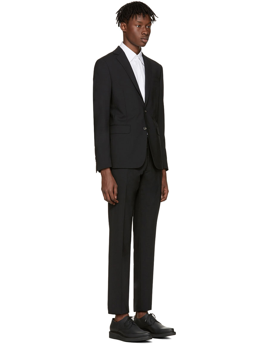 DSQUARED2 Black Wool Paris Suit