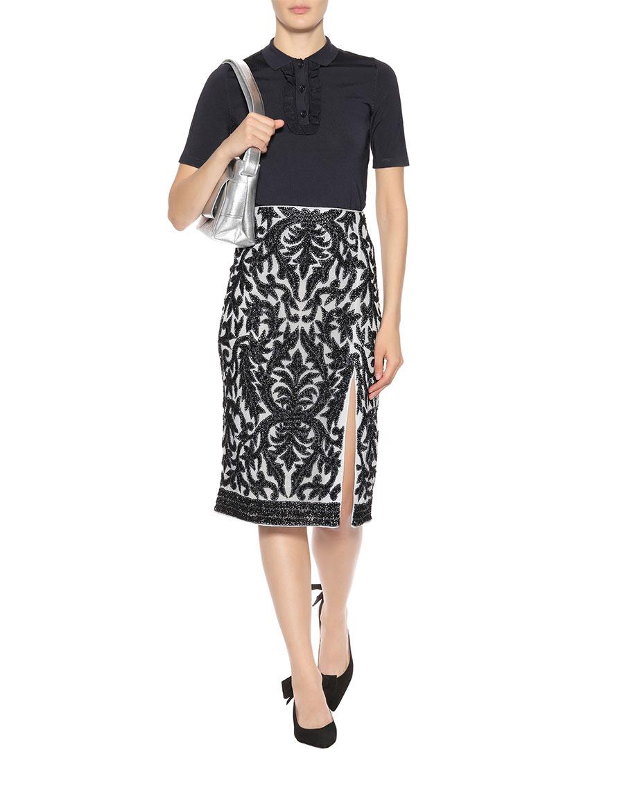 GANNI Colby sequinned skirt