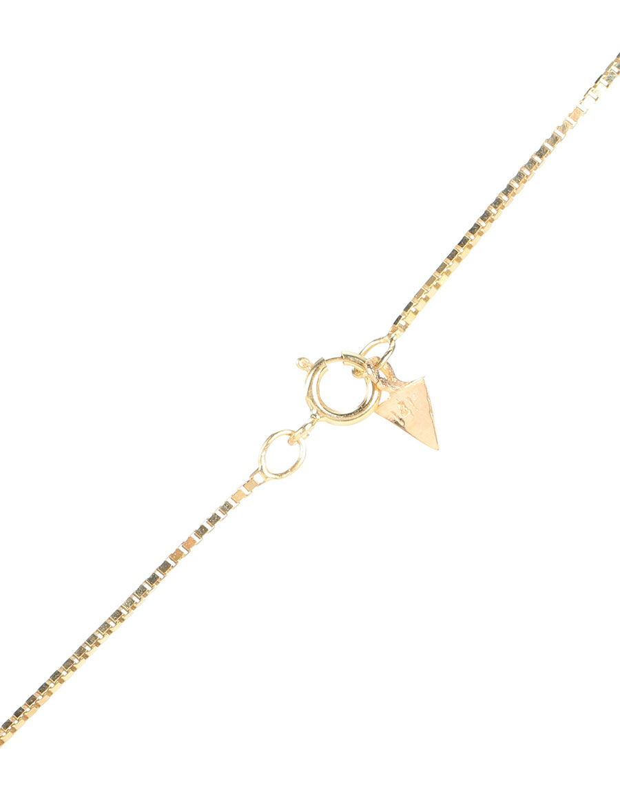 LOREN STEWART Rainbow 14kt gold, pearl and white sapphire necklace