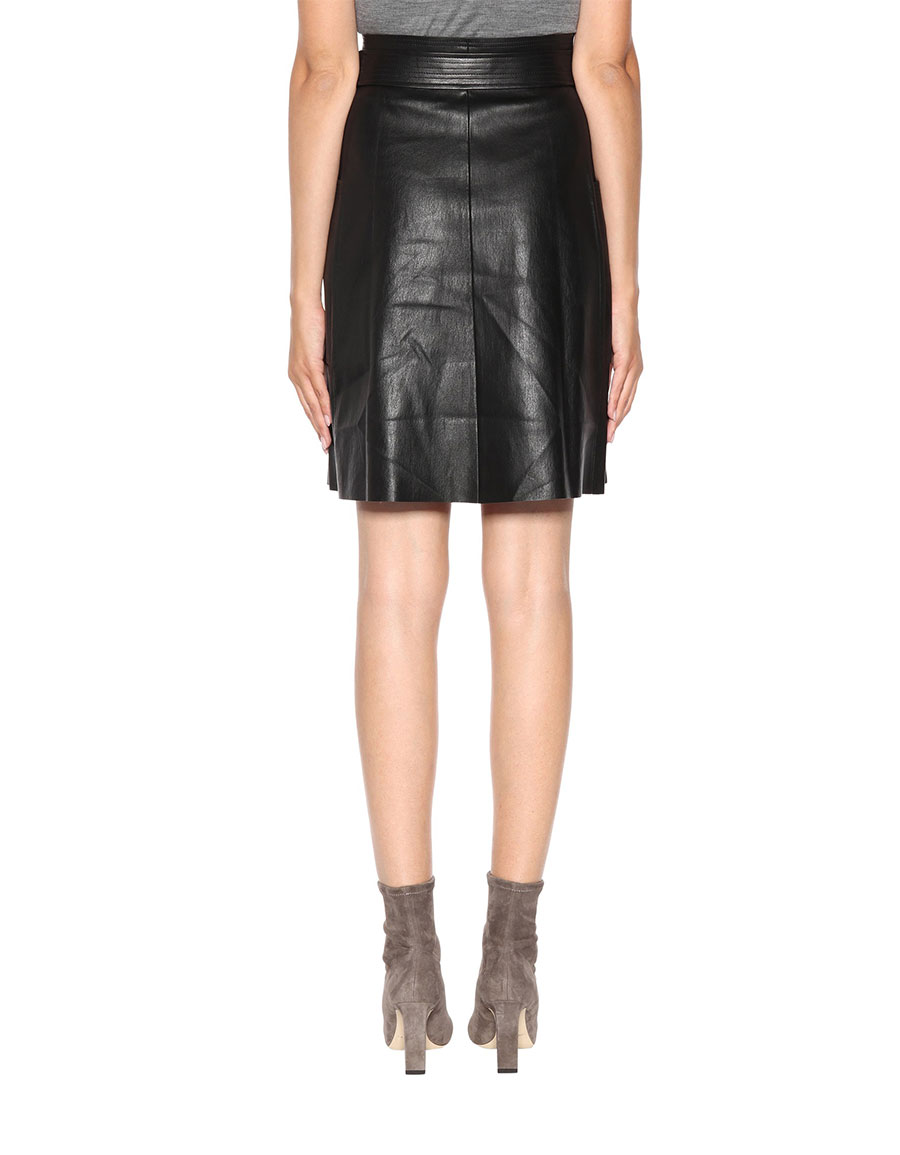 STOULS April leather skirt