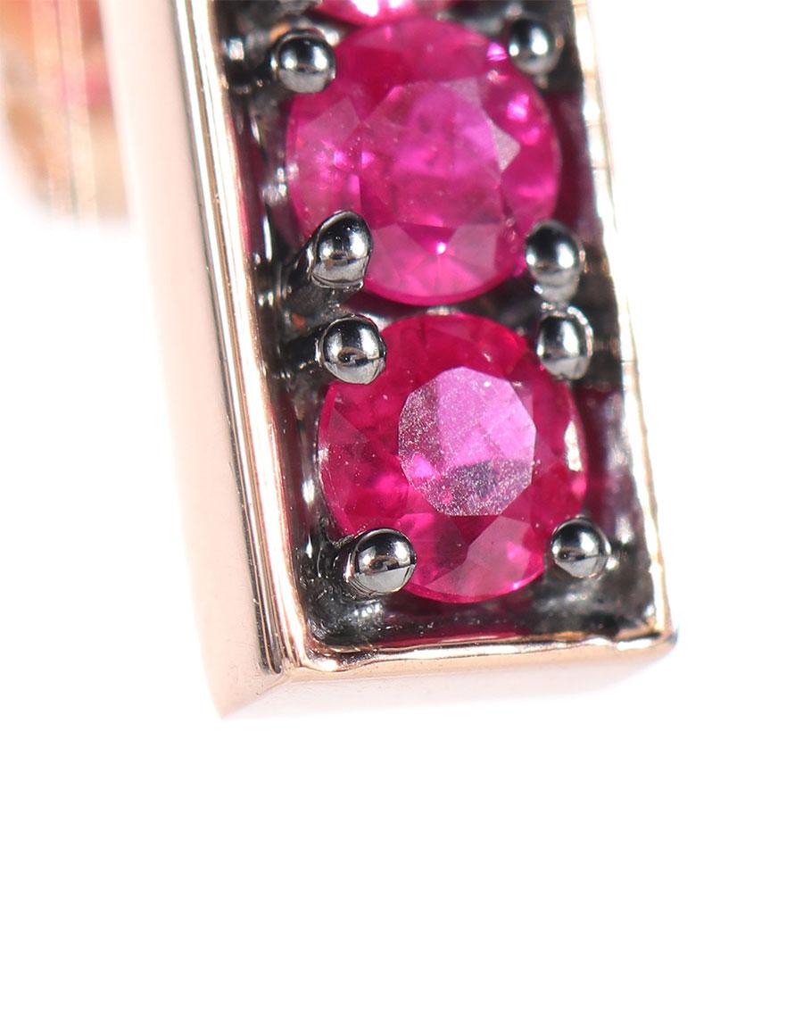 JEMMA WYNNE 18kt rose gold and ruby earrings
