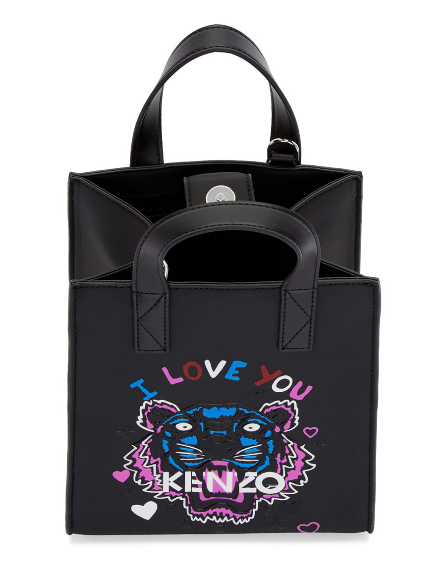 KENZO Black Limited Edition Mini 'I Love You' Tote