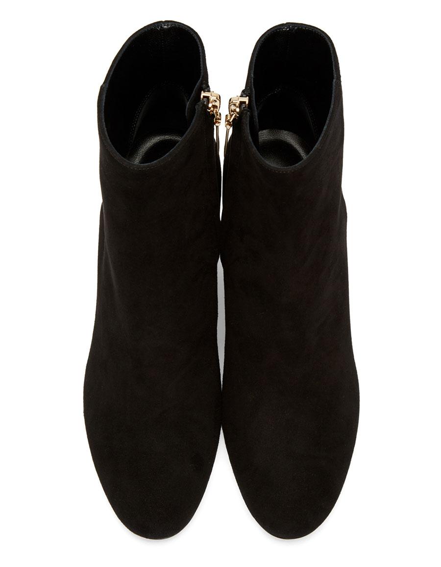 SAINT LAURENT Black Suede LouLou Zipped Boots