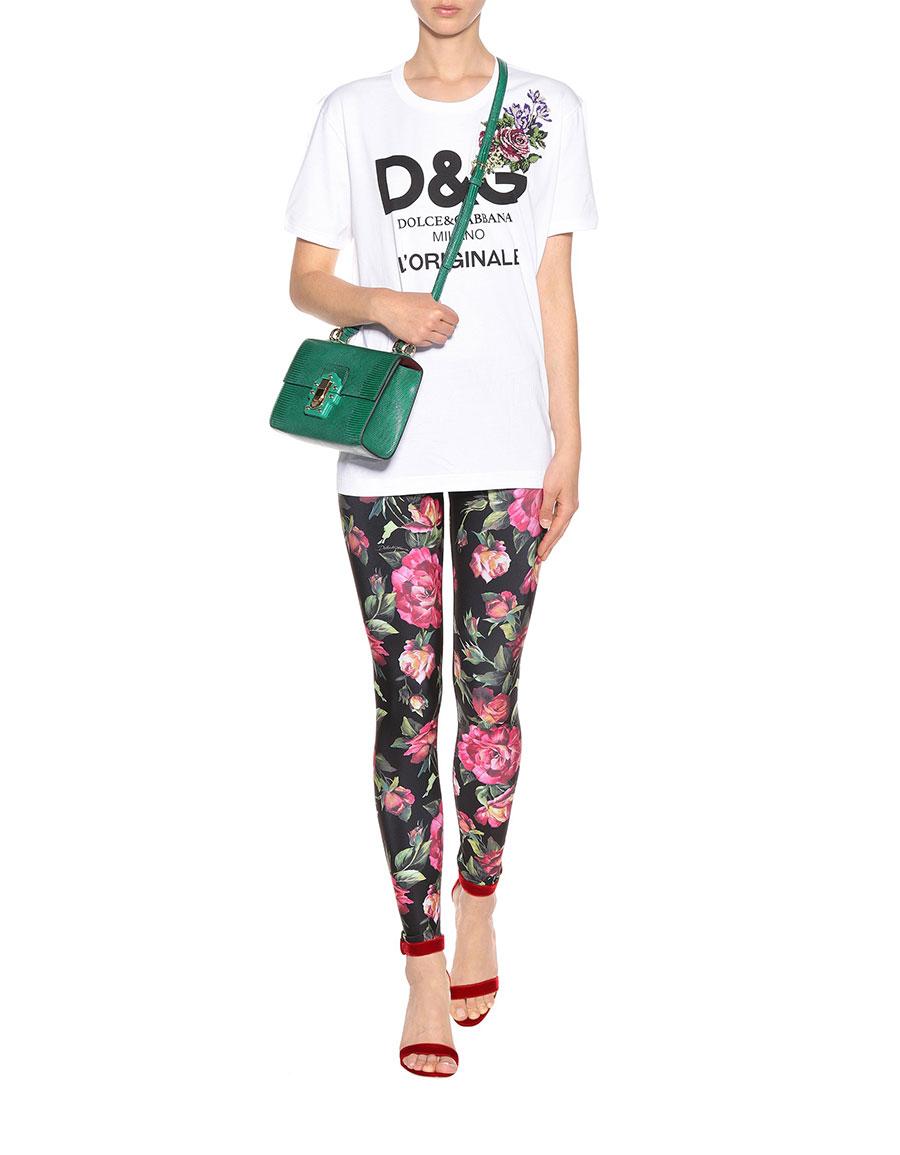 DOLCE & GABBANA Floral printed leggings