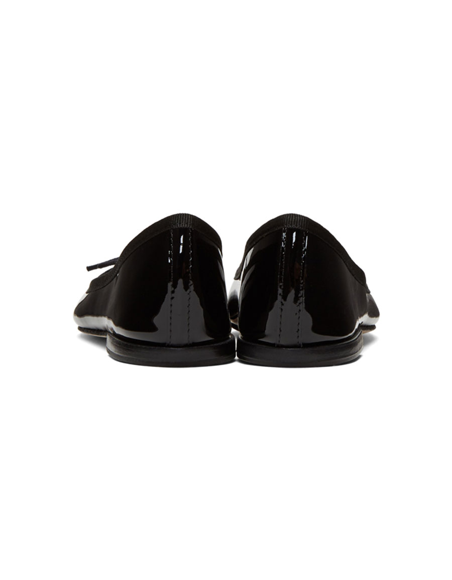 REPETTO Black Patent Cendrillon Ballerina Flats